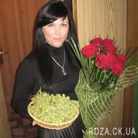 11 роз в сетке - Фото 1