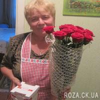 11 роз в сетке - Фото 2