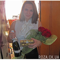 11 роз в сетке - Фото 3