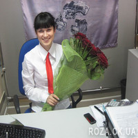 Bouquet of 19 red roses - Photo 1