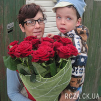 Bouquet of red roses in Cherkasy - Photo 1