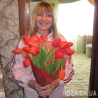 Bouquet of red tulips - Photo 1