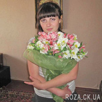 Fashion bouquet of alstroemerias - Photo 1