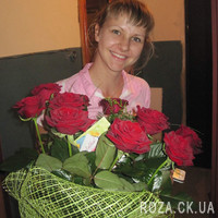 Wonderful bouquet of 11 red roses - Photo 3