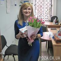 11 розовых тюльпанов - Фото 3