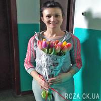 25 тюльпанов в бумаге - Фото 1