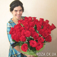 51 red imported rose - Photo 1