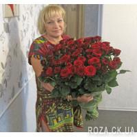 65 красных роз - Фото 1