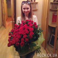 Big bouquet of 101 red roses - Photo 1