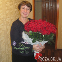 Big bouquet of 101 red roses - Photo 2