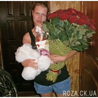 Large bouquet of red roses - Photo 1