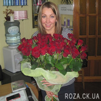 Large bouquet of roses in Cherkassy - Photo 2