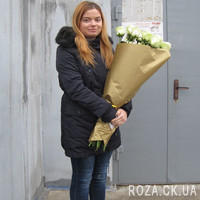 Bouquet of white imported roses - Photo 1
