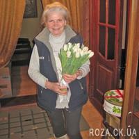 Букет білих тюльпанів - Фото 1