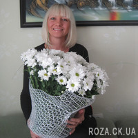 Bouquet of white chrysanthemums - Photo 2