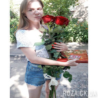 Bouquet of imported meter-high roses - Photo 1