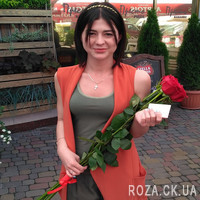 Bouquet of imported meter-high roses - Photo 2