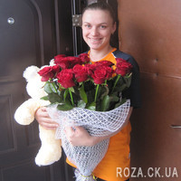Bouquet of 19 red roses - Photo 2