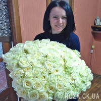 Bouquet of white roses in Cherkassy - Photo 1