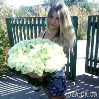 Bouquet of white roses in Cherkassy - Photo 2