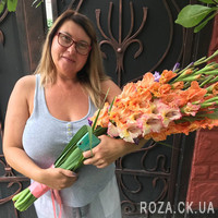 Bouquet from gladiolus - Photo 1