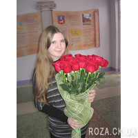 Bouquet from import meter-high roses - Photo 1