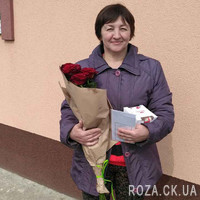 Bouquet of red roses in a paper - Photo 1
