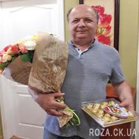 Букет из разноцветных роз в Черкассах - Фото 1