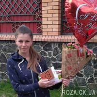 Букет из розовой кустовой розы - Фото 1