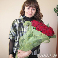 Bouquet of red roses in Cherkasy - Photo 3