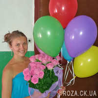 Bouquet of pink roses for woman - Photo 1
