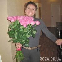 Букет розовых роз для женщины - Фото 4