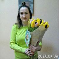 Букет тюльпанов и конфеты - Фото 1