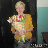 Elegant bouquet of colorful tulips - Photo 1