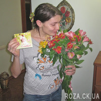 Classic bouquet of alstroemerias - Photo 3