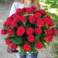 Basket of red roses in Cherkassy - Photo 2