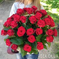 Кошик червоних троянд в Черкасах - Фото 2