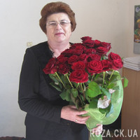 Beautiful bouquet of 25 red roses - Photo 2