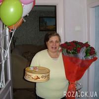 Красивый букет красных роз - Фото 1