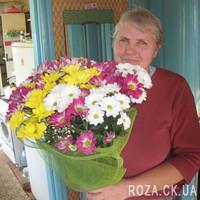 Beautiful bouquet of chrysanthemums - Photo 1
