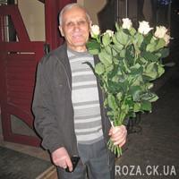 Кремовые розы в букете - Фото 1