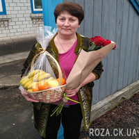 Модный букет из красных роз - Фото 2