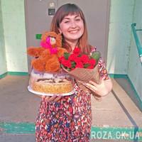 Модный букет из красных роз - Фото 5