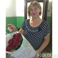 Модный букет из красных роз - Фото 4