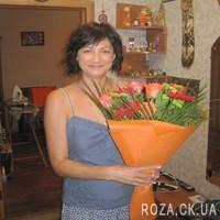 Оранжево-зеленый букет цветов - Фото 1