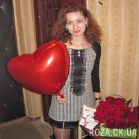 Сердце из 25 красных роз - Фото 1