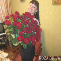 Chic bouquet of 55 red roses - Photo 1
