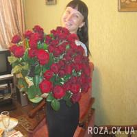 Шикарный букет из 55 красных роз - Фото 1