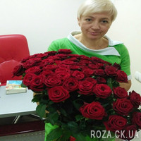 Шикарный букет из 55 красных роз - Фото 2