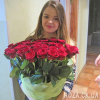 Chic bouquet of 55 red roses - Photo 5